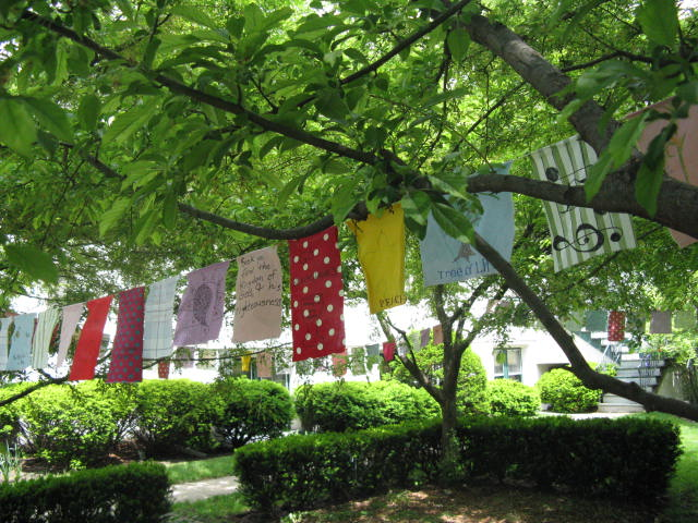 St. John's Episcopal Chicago, Prayer Flags in the trees