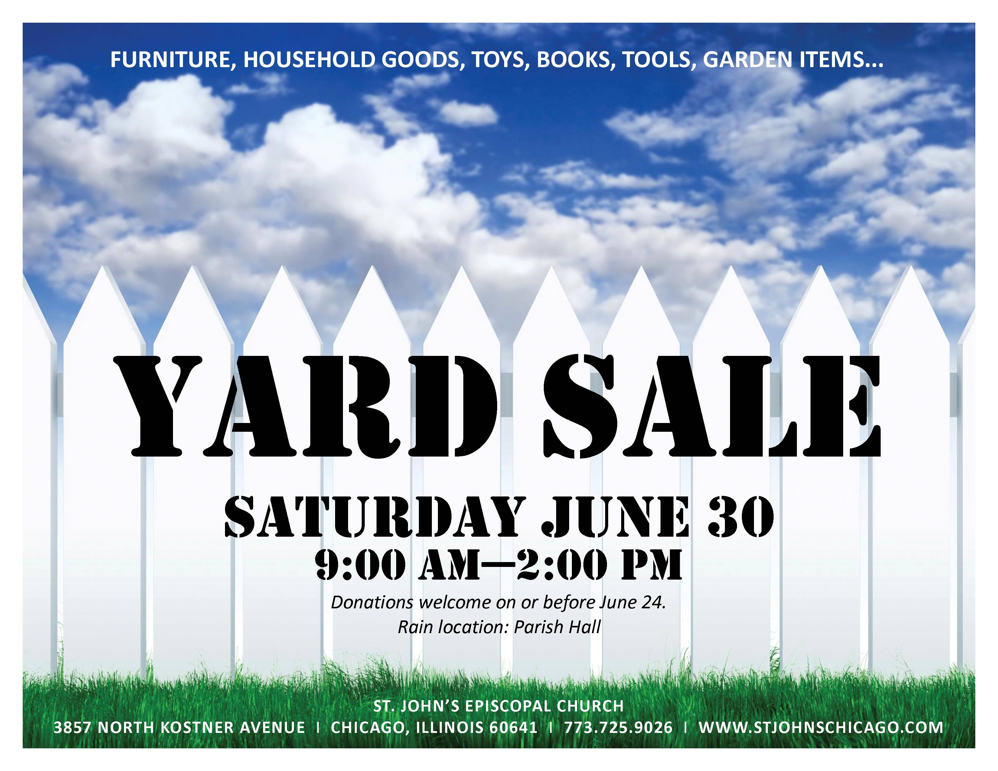 Yard Sale is June 30