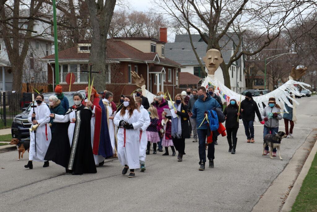 procession down Byron Street
